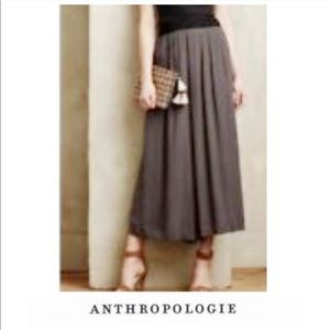 Anthropologie Elevenses Gaucho Gray Pants